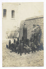 WORLD WAR I RPPC GERMAN SOLDIERS LARGE COLLECTION OF DIFFERENT ARTILLERY SHELLS
