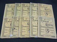1875 POTTER'S AMERICAN MONTHLY ILLUSTRATED MAGAZINE LOT OF 10 ISSUES - WR 192