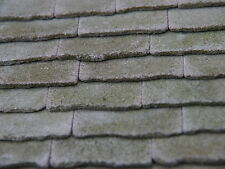 25 sq ins 1:12th NEW Real Stone Weathered Miniature Roof Slabs