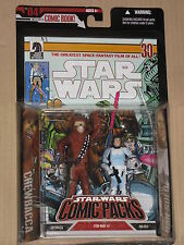 Star Wars 30th Anniversary Comic Pack CHEWBACCA & HAN SOLO Action Figures MOSC
