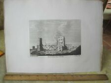 Vintage Print,OLD CHURCH IN DOVER,Grose's Antiquities England,c1790
