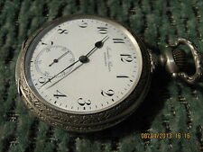 SALE!Rare Art Deco IWC Schaffhausen Juwelier Clasen Hamburg big pocket watch c57