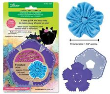 Clover Quick Yo-Yo Maker Flower Shaped Large #CL8707 Sewing Quilting Notions