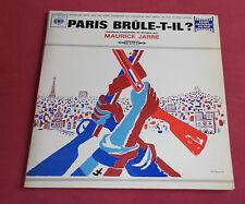 PARIS BRULE T IL ? LP BOF MAURICE JARRE  RENE CLEMENT ART COVER VILLEMOT