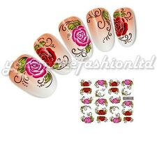 NAIL ART WATER TRANSFER STICKERS SUMMER FLOWERS  STYLE (B60)