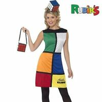Ladies 80s 80's 1980s Rubiks Cube Fancy Dress Costume Outfit by Smiffys New.