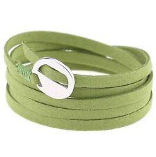New Handmade Multilayer Weave Velvet Rope DIY Buckle Wristband Bracelet Bangle