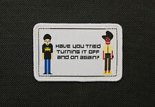 The IT Crowd Woven Patch Roy Trenneman Maurice Moss Have You Tried Turning Off