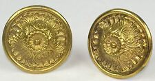 Beautiful Pair of Vintage Solid Brass Curtain Tie Backs