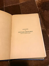 5702-1942 Outlines of Jewish history from B.C. 586 - to C.E. 1929 by Lady Magnus