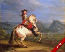 KING LOUIS XIV OF FRANCE ON HORSE AT BESANÇONPAINTING ART REAL CANVAS PRINT