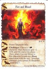3 x Fire and Blood AGoT LCG 1.0 Game of Thrones The Pirates of Lys 57