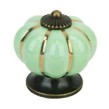 Cute Pumpkin Drawer Pull Knob Cabinet Kitchen Home Door Handle Cupboard Green