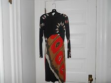 NWT Issa turtleneck dress with open back black, red mustard Size 6