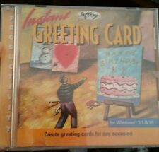 Instant Greeting Card PC CD ROM - FREE POST