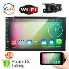 "Android 5.1 7"" 2Din InDash Car DVD Radio Stereo Player WiFi 4G GPS+Tablet+Camera"
