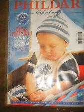 Phildar Créations N°302 Printemps Eté 1998 Spécial Layette Tricot Modèles Bébé