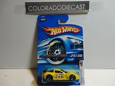 2006 Hot Wheels #25 Yellow Corvette C6R w/OH5 Wheels