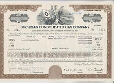 1981 Michigan Consolidated Gas Company Bond Certificate - Michigan