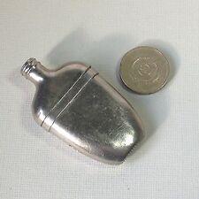 Vintage Gents Silver (or plated) Liquor Flask Shaped Vesta Match Safe Holder