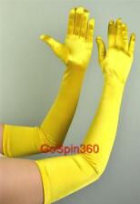 OPERA LONG Length Stretch SATIN Gloves YELLOW GOLD