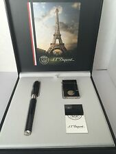 S.T. Dupont Chinese Lacquer Fountain Pen & Lighter Set, Paris Saint-Germain, NIB