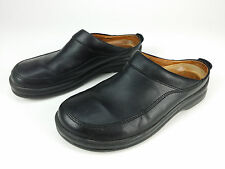 Birkenstock Footprints sz 38 7 Ashby Clogs Black Leather Slip On Shoe