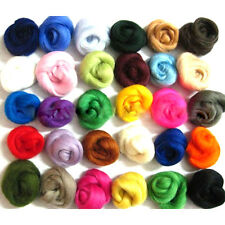 Lot of 36 colors Merino Wool Fibre Roving For Needle Felting Hand Spinning