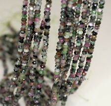 """3X2MM  RUBY ZOISITE GEMSTONE GRADE A FACETED RONDELLE 3X2MM LOOSE BEADS 16"""""""