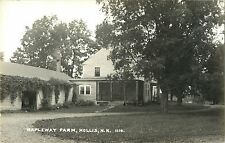 A View Of Mapleway Farm, Hollis NH New Hampshire RPPC