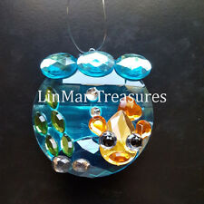 Ganz Crystal Expressions Tropical Gold Fish Bowl Sun Catcher Ornament