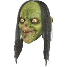 Morgana Witch Latex Mask Adult Hag Wicked Sorceress Evil Warts Halloween Prop