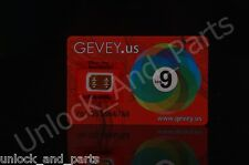 Gevey Unlock Sim Card for iphone 4s 5 5c 5s 6 6+ 6s 6s + until ios 9.1