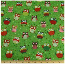 Christmas Happy Owl - Green SS:700  Sugar & Spice Textiles/Quilting/Patchwork