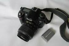 Nikon D D80 10.2 MP digital-slr DSLR Telecamera con AF-S 18-55mm LENS-Nero