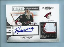 ILYA BRYZGALOV 2010/11 PANINI DOMINION STICKSIDE SIGNATURES GAME STICK AUTO /50