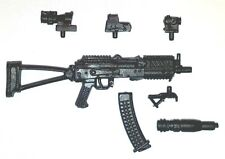 """Modular"" AKs74u Assault Rifle w/Mag-1:18 Scale Weapon for 3-3/4"" Action Figures"