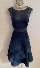 Exquisite Karen Millen Black Silk Multi Layer Dress UK8 Stunning