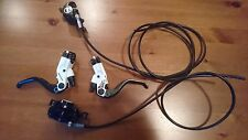 Magura MT4 white disc brake set, F+R. like new
