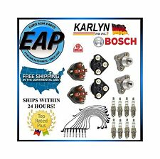 For E420 S420 S500 SL500 500SEL 400E Ignition Wire Spark Plug Cap Rotor KIT