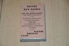 Ancien jeu de Divination / 32 cartes : Epitre aux Dames, Dame de Coeur