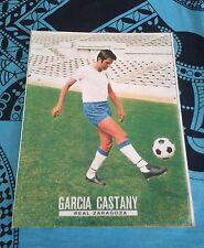Póster de fútbol de Garcia Castany y del Real Zaragoza