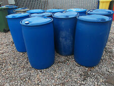 BLUE PLASTIC BARREL / DRUM - 210 LITRE / WATER BUTT / SHOWJUMP FILLER / HAY DRUM