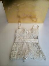 Agent Provocateur Soiree Collection Ivory Gene Lace Corset Size 3