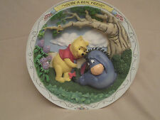 WINNIE THE POOH AND FRIENDS #3 collector plate YOU'RE A REAL FRIEND  3-D