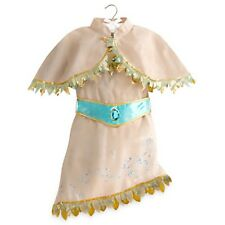 POCAHONTAS Costume Dress Cape Girl Child Medium 7 8 DISNEY STORE Indian Princess