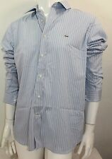 Lacoste Casual Slim Fit Poplin Stretch Woven Button Front Sz XXLarge Blue NWT