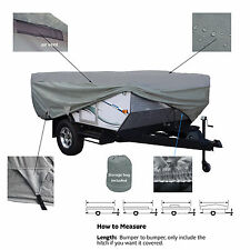 Deluxe Waterproof Pop Up Folding Camper Tent Trailer Storage Cover fits 12'-14'L