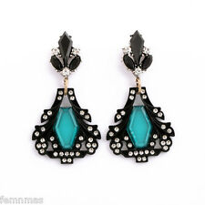 FemNmas Black Ethnic Fashion Earrings Celebrity Bollywood Style Earrings
