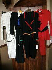 Vintage LOT OF 3 DRESSES, 1 TWO PIECE DRESS ALL NWT (Caron, etc.) and 4 clutches
